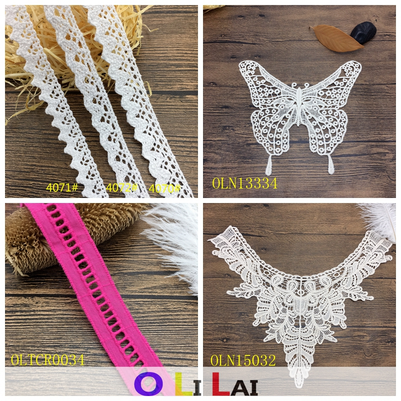 1/2 inch 1.2cm OLT01140 Cotton embroidery guipure lace for garment accessories