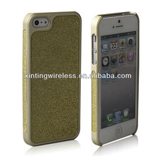 hard rubber case with golden power for iphone 5
