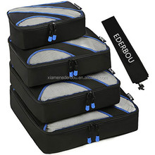 Nylon Packing Cubes,Travel Luggage Packing Organizers with Laundry Bag and sleep mask