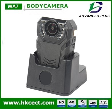 1296P super HD recorder Body Worn 64GB max wireless remote control car recording camera