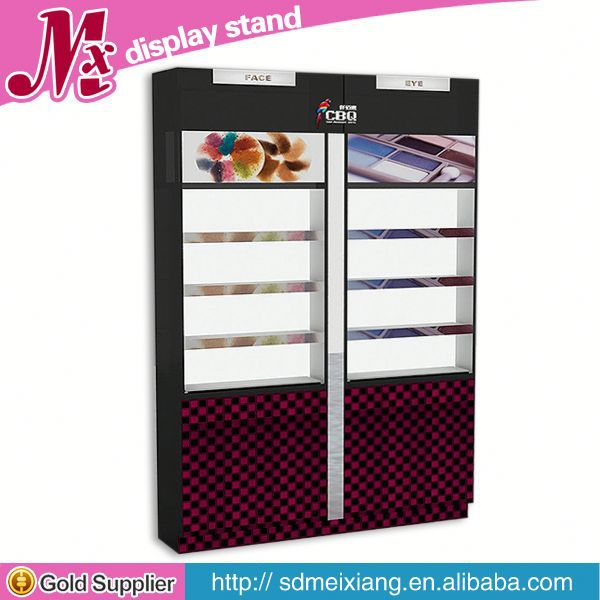 new wooden cosmetic display, MX7042 2013 glass display case