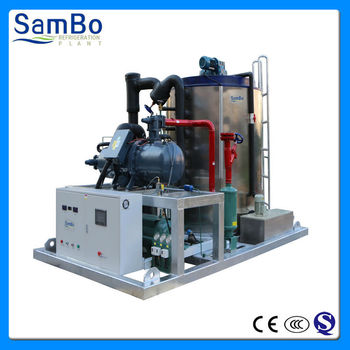 concrete cooling and seafood preservation 30 tons CE industrial snow flake ice machine for sale