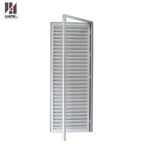 Residential price White color Aluminum casement louver shutter windows