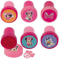China Factory Directly Sell Customized Plastic Self Ink Minnie Mouse Stampers For Promotional Gift
