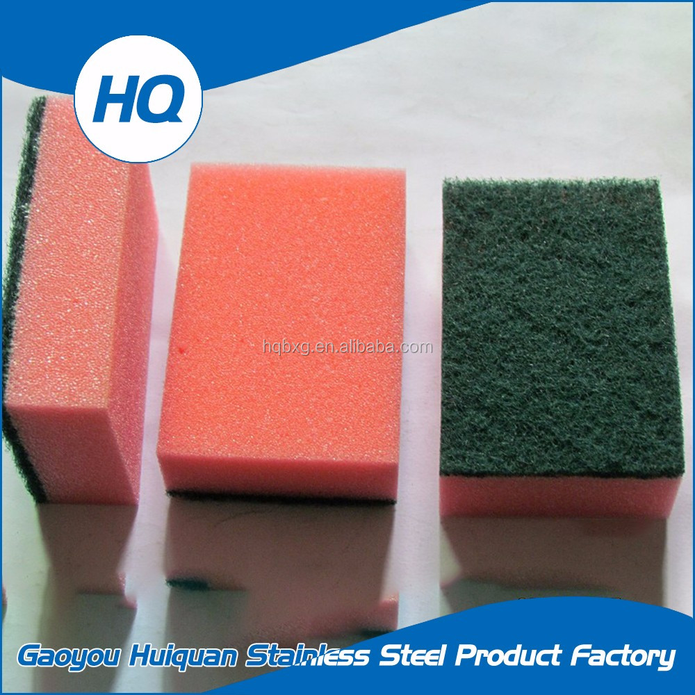 High quality foam sponge scouring pad for dish washing