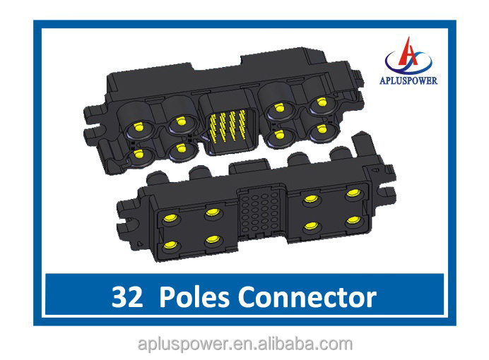 JDS-32 Max rated current 75A Power pins connector with UL approved, Female and male connector