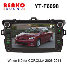 8'' wince 6.0 Car Gps Dvd for Toyota corolla 2006-2011with bluetooth,steering wheel control