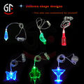 China Wholesaler Souvenir Gift Party Decoration Plastic Butterfly Led Light Pendant Necklace