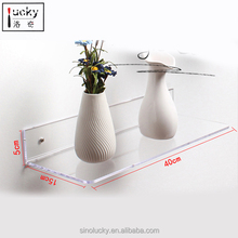 3 Acrylic Floating Wall Ledges, Ultra-Clear Extra Thick Invisible Spice Racks - Photo Ledge or Book Display Shelf