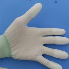 ESD nylon top fit gloves antistatic pu finger coated work gloves