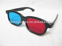popular durable plastic 3d red-blue glasses