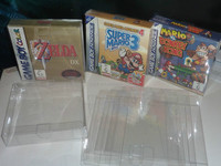 Customized Clear PET Box Protectors for N64/SNES/NES games,game boy