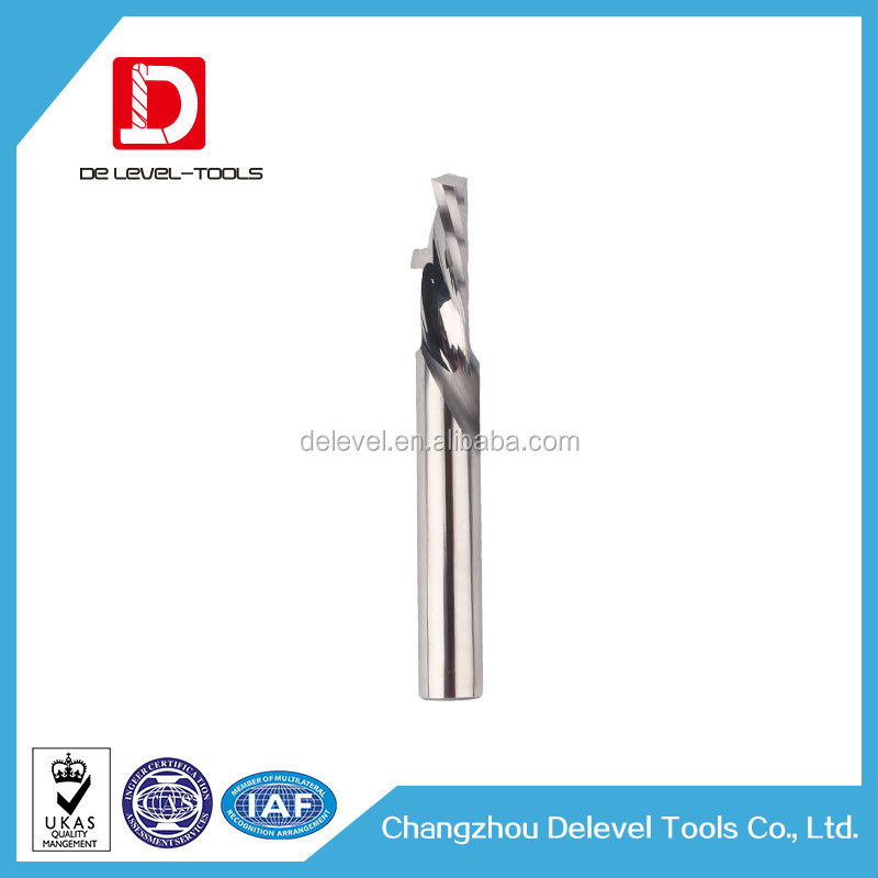 Carbide Milling Tools 1 Flute Compression End mill For Carving Wood