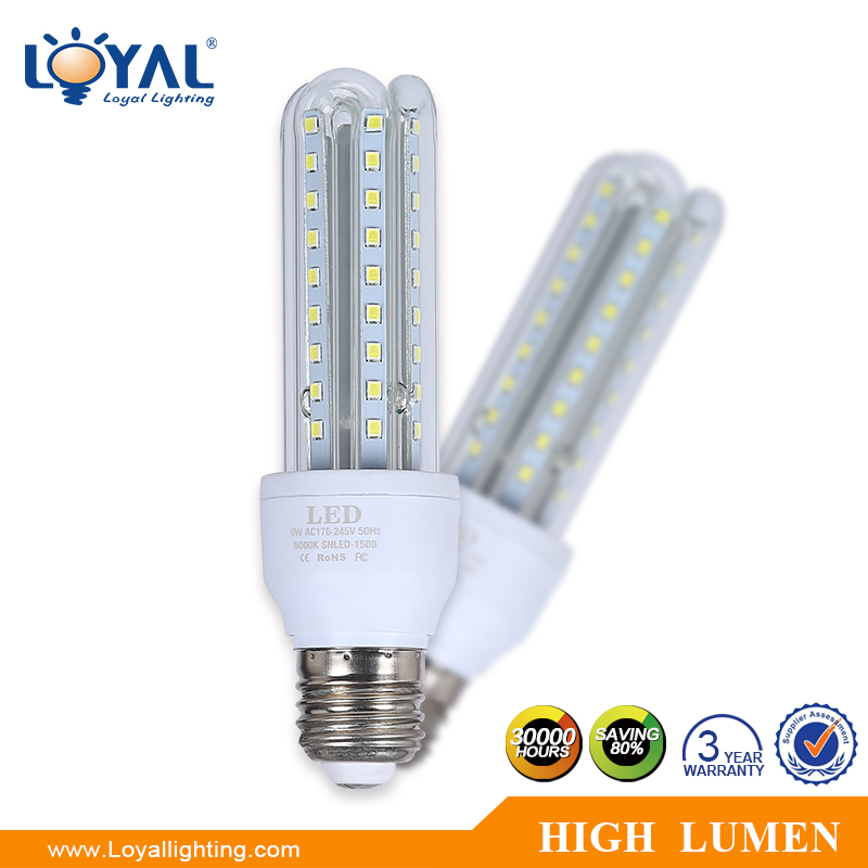 <strong>U</strong> Shape clear glass 360 degree warm white enery saving 12v-240v smd e27 5w 7w 9w 11w 12w 16w 18w 21w 24w 30w led corn light