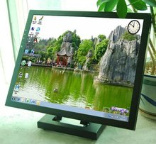 17 inch wide lcd panel pc touch screen monitor with stand oem lcd touch screen