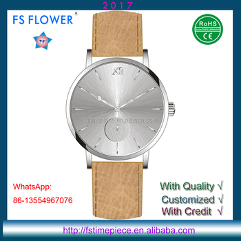 FS FLOWER - CS002 Water Resistant Stainless Steel Small Seconds Elegance Sapphire Watch Fashionable Watches Wrist Watches Man
