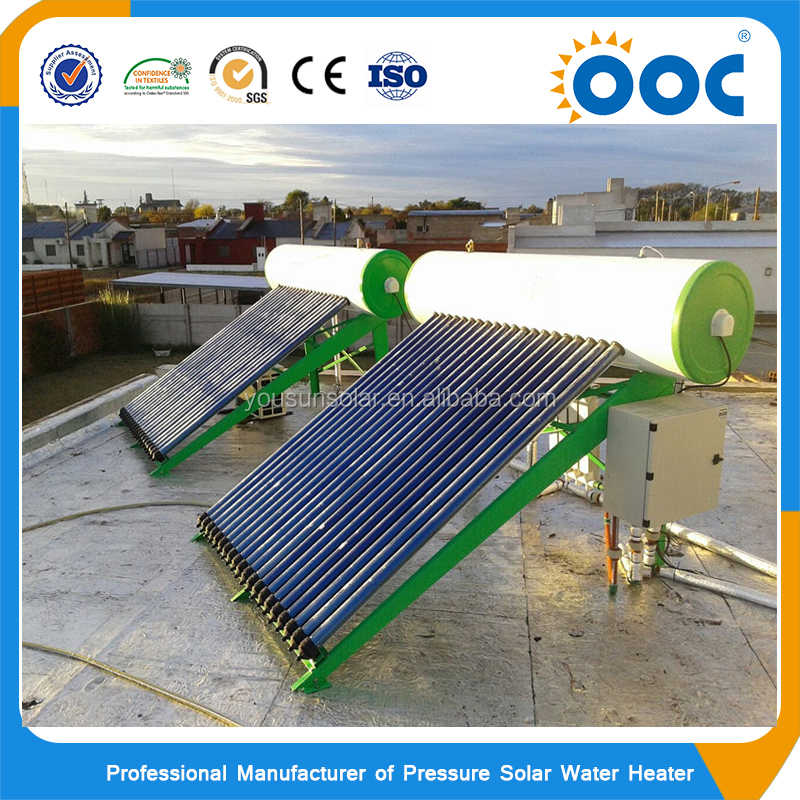 Hot pressure solar thermal water heaters system