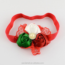 Rose Baby Hairbands Red Christmas <strong>Headbands</strong>(OHAR-R104-05)