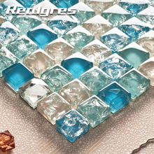 300*300cm Arabic Style Colorful Brick Glass Mosaic Tiles