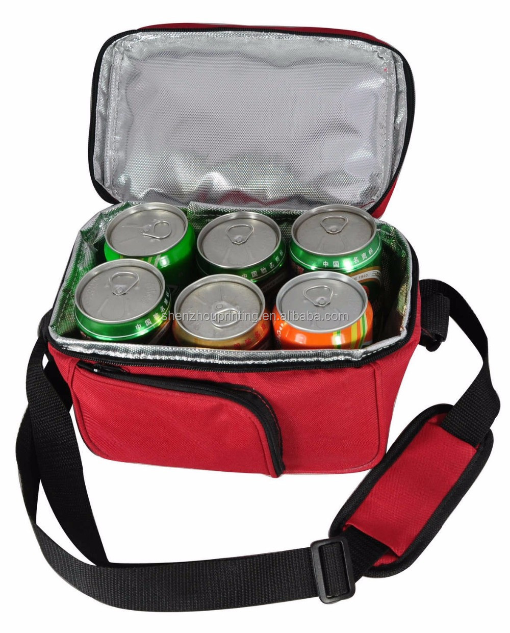 High quality customized cheapest light weight 600d oxford polyester foldable disposable insulated drink 6 can cooler bag