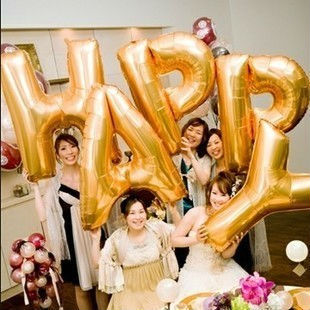 40inch super foil HAPPY Letter Balloon for venlentin's decoration