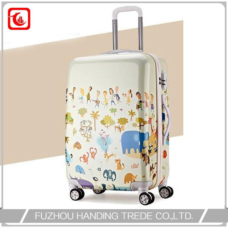 print spinner carry on luggage photo with handle , suitcase child
