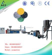 PE/PP plastic film scrap recycling two stage single screw pelleter/granulation line