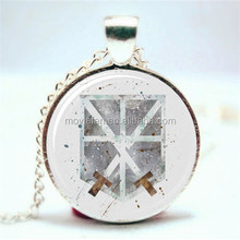 Training Corps, Shingeki no kyojin Art Print NECKLACE Glass Photo Cabochon Necklace