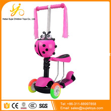 Popular outdoor sports children 3 wheel scooter trike / kids sitting sliding scooter / cheap kick scooters for sale