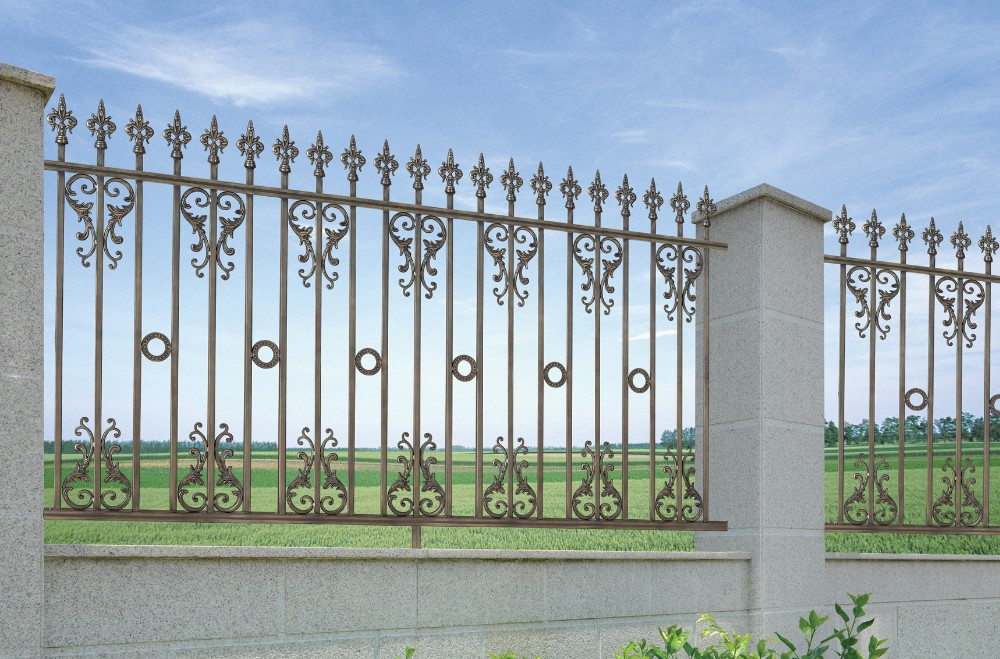 Wrought iron fence panels design for house beautiful house iron fence philippines fences from - Concrete fence models design ...