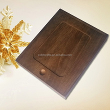 finished wood boxes lid , wood packaging box CD box
