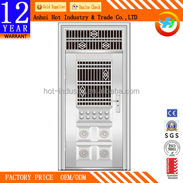 Main Room Door Front Single Door Stainless Steel Material Designs Main Entrance Gate