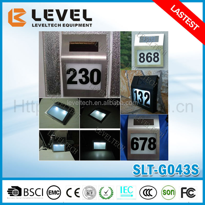 Wholesale 2pcs Supper Brightness LED 2V/40MA Amorphous Solar House Number Light