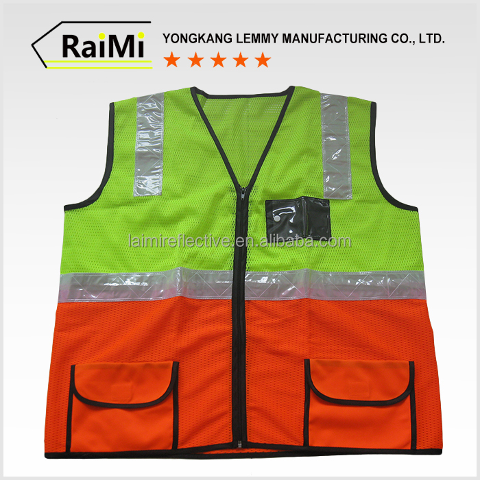 Guaranteed Quality safety reflective hi vis vest with pockets