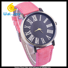 WJ-4850 Roman numerals denim simple vintage top selling watches for large wrist women