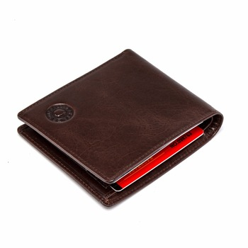 Factory Price Guangzhou Brands Cowhide Leather Mens Wallet