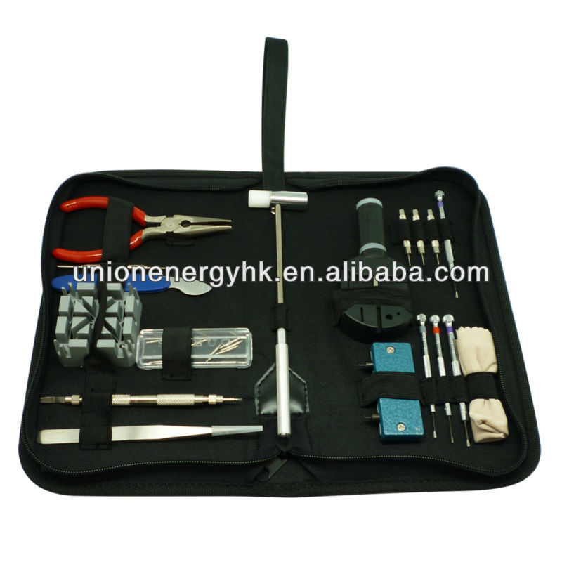 Multifunctional 18 pcs watch tools watch repair tool kit for watch repair