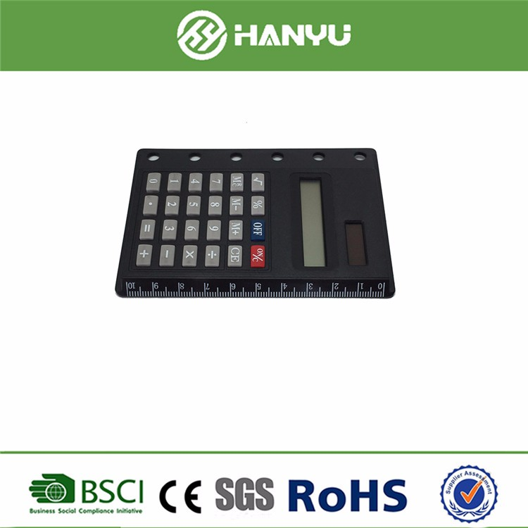 high quality digital calculator with ruler cheap solar powered calculator