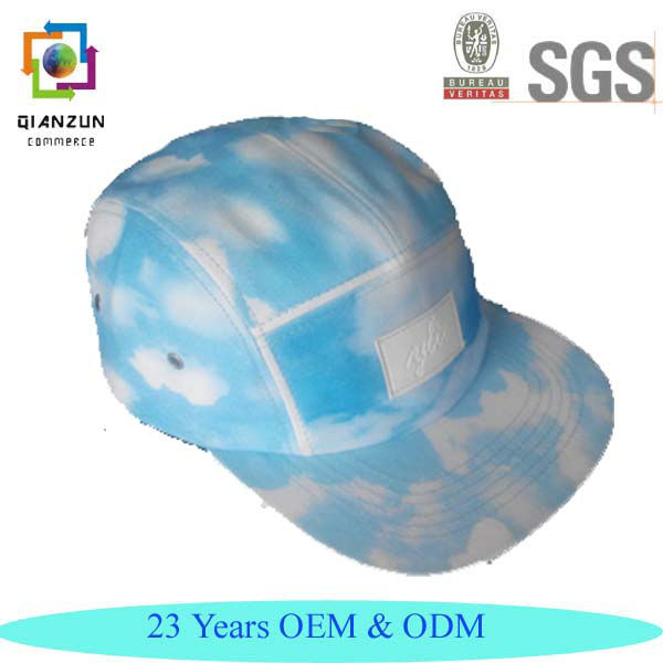 Blank Sublimation Caps 5 Panel hats