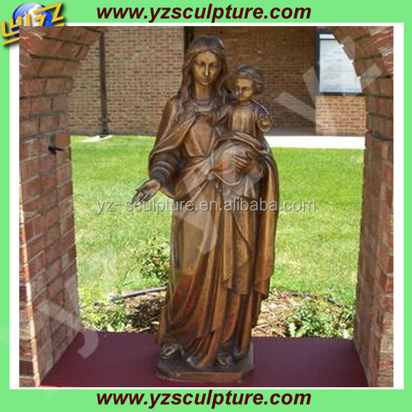 bronze mary and baby jesus statue for sale