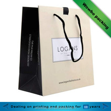 luxury fashion foldable recycled shopping paper bag for boutique