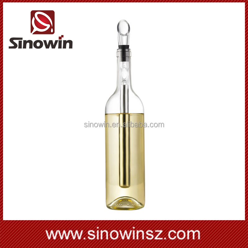 Sinowin Wholesale Laser Engraved Stainless Steel Bottle Cooler Stick