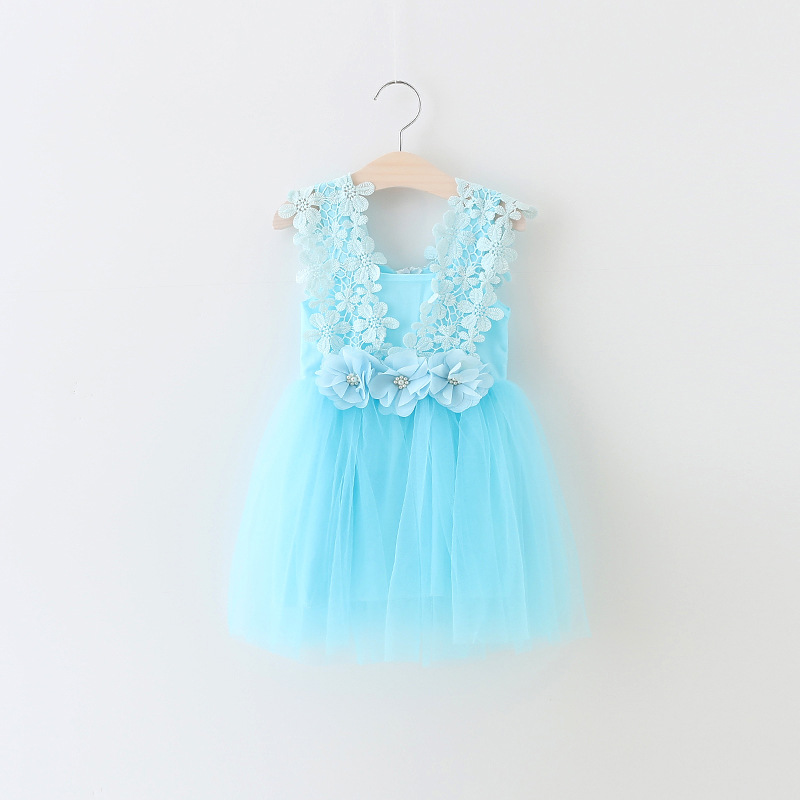 Flower Girl Princess Wedding Pageant Birthday Party Formal Sequins Dress