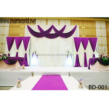 2018 Latest wedding drape/wedding draping fabric used for wedding decoration(BD-001)
