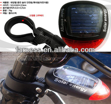 Environment Protection,Waterproof Solar LED Tail lightFor Bicycle, CE ROHS Certification