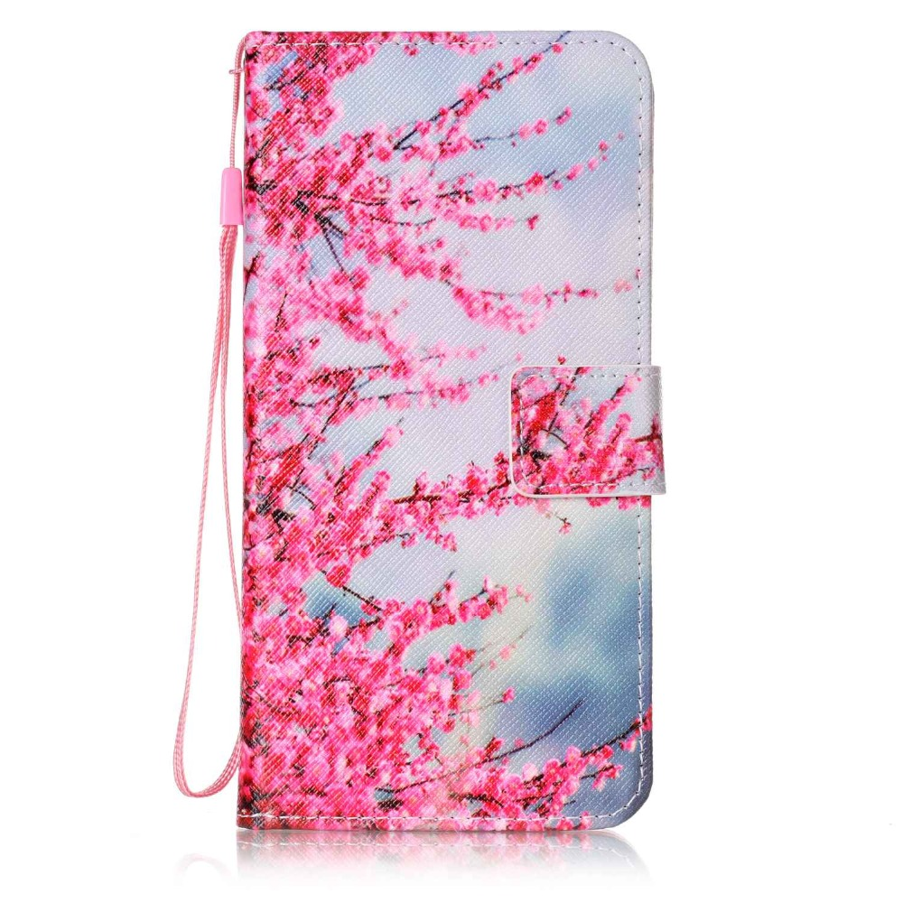 Painted Flip Case Wallet Leather Cover for iphone Samsung galaxy 6s plua 7 7plus S3 i9300 S4 S5 Neo S6 S7 S7edge