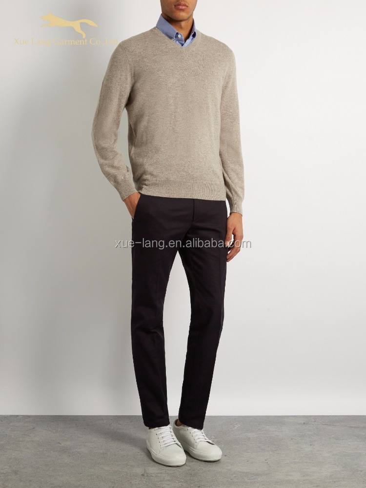 Autumn cashmere-blend pullover knitwear man sweater