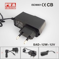 transformador para cctv 12v 1amp power supply circuit approved CE wall mounted adaptor