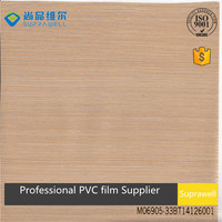 Light color Pine wood PVC film for cupboard and cabinet