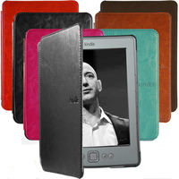 Ultra Slim Cute Folio Leather Case Cover Hard Shell For Amazon Kindle 4 / 5 th